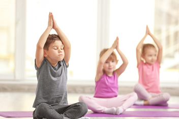 Children Doing Yoga